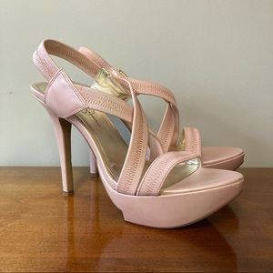 Jessica Simpson Rose Pink Ashy Strappy High Heels